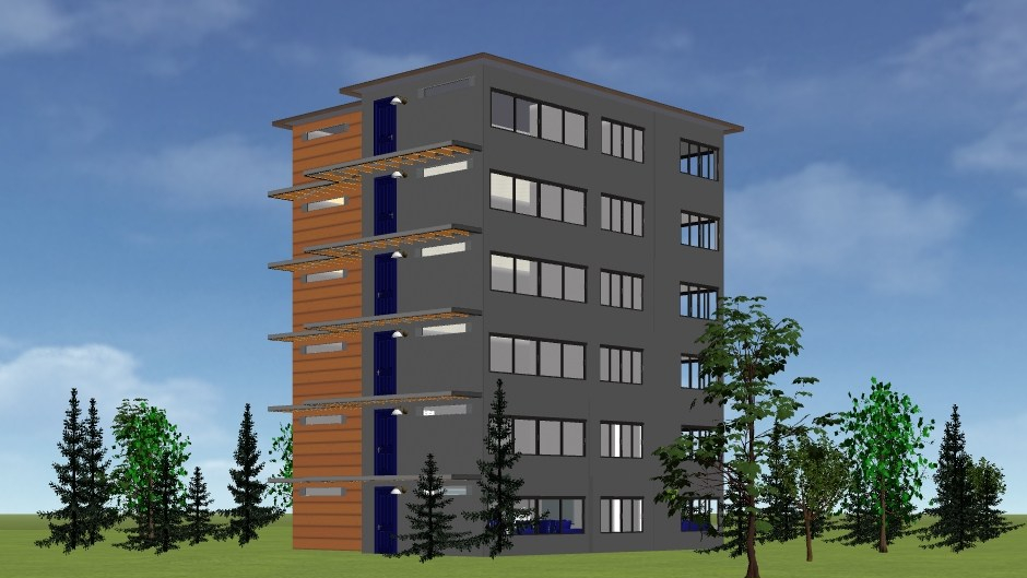 PEER Homes Affordable 2bd 2ba 6 Story Elevation Northwest